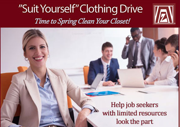 SuitYourself Clothing Drive - May